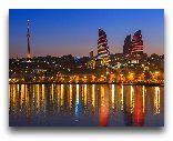 Азербайджан: Ночной Баку