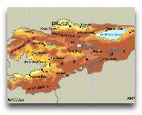 Киргизия: Карта