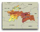 Таджикистан: Карта