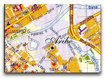 отель Aribe: Расположение отеля на карте города