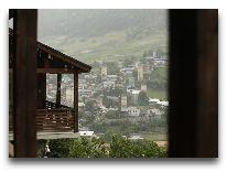 отель Hotel Banguriani in Mestia: Вид из отеля