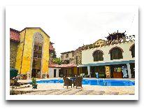 отель Borjomi Palace: Территория бассейна