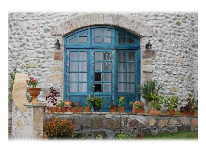 отель Chateau Mere: Вход со двора