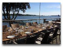 отель Christiansminde: Открытая терраса ресторана