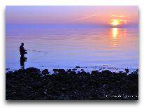 отель Denmark Fiching & outdoor Lodge: Рыбалка вечером