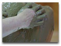 санаторий Egle: Процедура с белой глиной