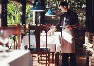 отель Green Papaya Organic Village: Ресторан