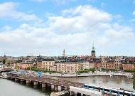 отель Hilton Hotel Slussen: Вид на Старый город из окон отеля