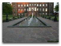 отель Замок Кальви: Аллея с фонтанами