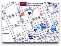 отель Mercure Frederyk Chopin: Карта