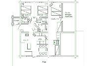 отель Коттеджи в середине трассы: Тип 11 план