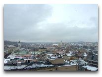 отель Novotel Vilnius: Вид из окон отеля на город зимой
