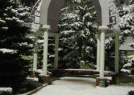 санаторий Нуфэрул Алб: Беседка зимой