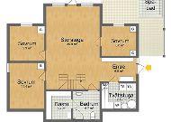 отель Коттедж Örebäcken: План коттеджа 1 этаж