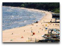 отель Pirita Marina Hotel & SPA: Пляж рядом с отелем