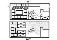 отель Коттедж Sjungarbacken: План коттеджа
