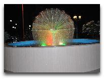 отель Old Telavi: Ночной фонтан на территории