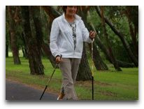 отель Tervis Medical SPA: Прогулки с палками