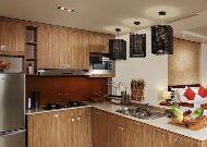 отель The Cliff Resort & Residences: Terra Panoramic Sea View - кухонная зона