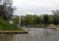отель Viiking: Замковый ров перед отелем