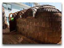 отель Viiking: Баня на крыше в шалаше викингов