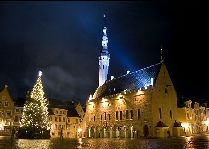 Эстония: общая информация, фото: Ратушная площадь зимой