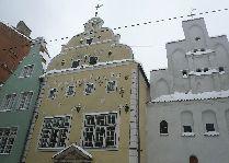 Латвия: информация для туристов, фото: Три брата в Риге