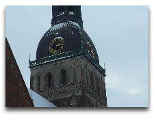 Латвия: информация для туристов, фото: Шпиль Домского собора Зимой