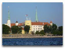 Латвия: информация для туристов, фото: Рижский Замок, вид с реки