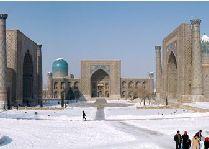 Узбекистан: общая информация, фото: Панорама зимнего Регистана
