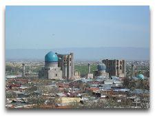 Узбекистан: общая информация, фото: Самарканд с высоты