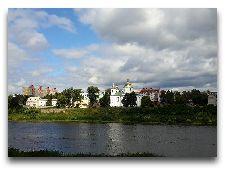 Достопримечательности Полоцка: Вид на Богоявленский монастырь