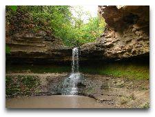 Достопримечательности Молдавии: Водопад в монастыре Сахарна