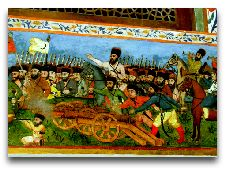 Дворец Шекинских Ханов: Роспись в ханских покоях