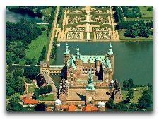 Замок Фредериксборг: Вид с птичьего полета