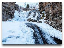 Джермук. Общая информация: Водопад зимой