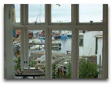 Рыбацкий коттедж в гавани: Рыбный коттедж терраса