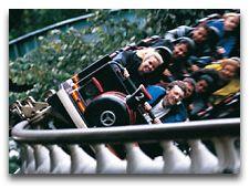 Парк развлечений Лисеберг: Американские горки на склоне