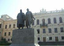Памятники Тбилиси: Памятник Акакию Церетели и Илье Чавчавадзе