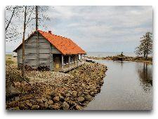 Парк Тойла-Ору: Старая пристань в устье реки Пюхайыги
