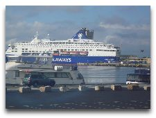 Паром Копенгаген - Осло: Паром DFDS на терминале