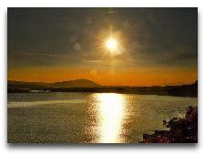 Севан. Общая информация: Закат над озером