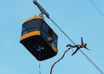 Активный отдых в Сигулде: Прыжки из вагончика