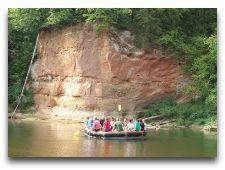 Активный отдых в Сигулде: Катание на плотах по Гауе