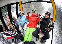 Зимние виды спорта: В гондоле Ski&Sun