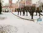 Замок Бирини: замок Бирини зимой