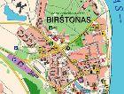 Бирштонас: Карта города