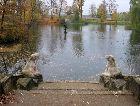 Цесис: Пруд в парке