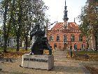 Гданьск: Памятник Гельвециусу