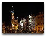 Гданьск: Длинный Рынок ночью